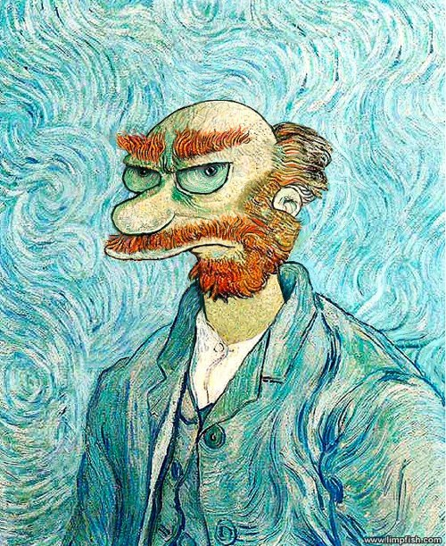 Groundskeeper Willie Van Gogh