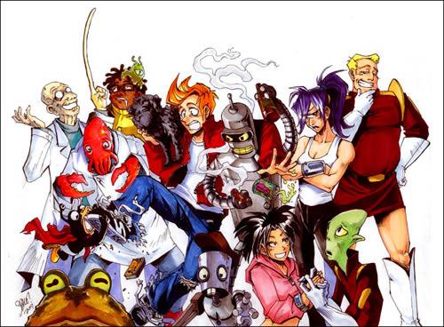Futurama im Manga Stil