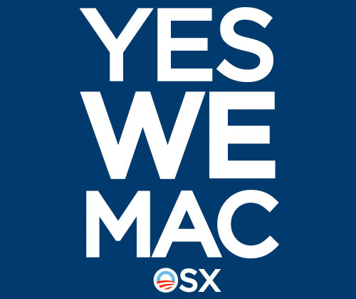 Yes We Mac: Obama-styled Mac T-Shirts