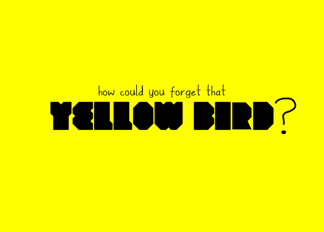 How Could You Forget That Yellow Bird?