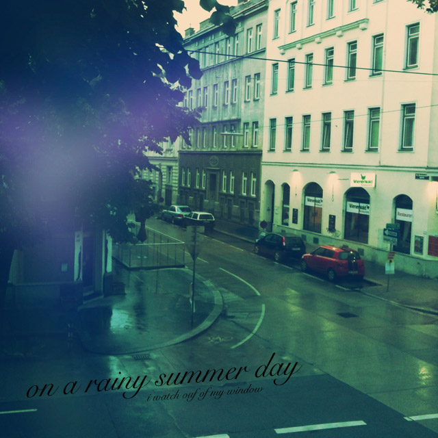 on a rainy summer day cover