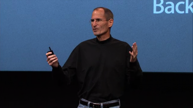 "Steve Jobs bei der ""Back to the Mac""-Keynote am 20.10.2010"