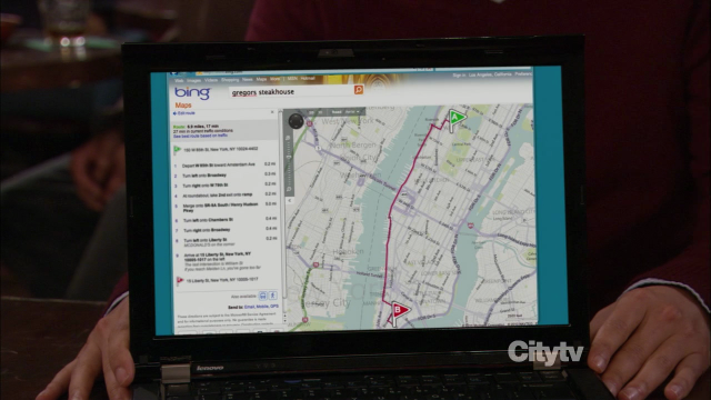 Bings Maps bei How I Met Your Mother