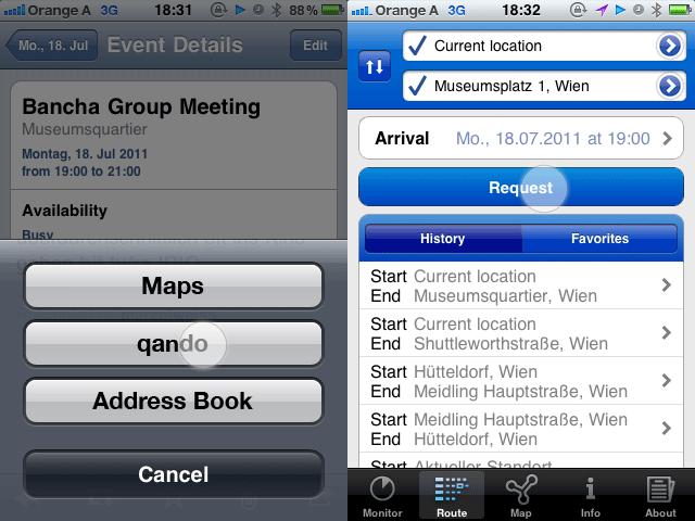 Integration Kalender und qando