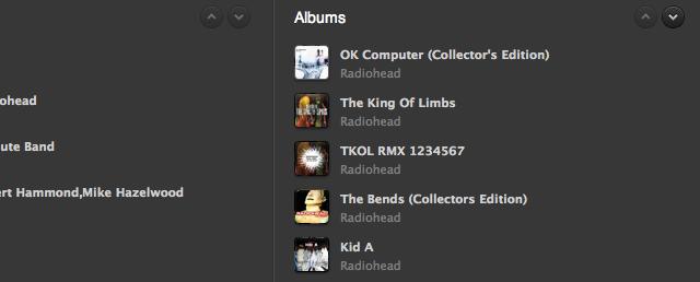 Scrollen in Spotify