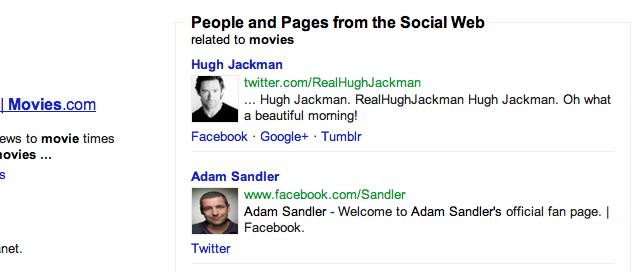 """Hugh Jackman bei der Suche nach """"movies"""" auf Google"""