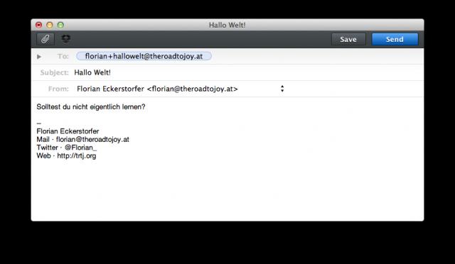 Unendlich viele E-Mail-Adressen mit Gmail