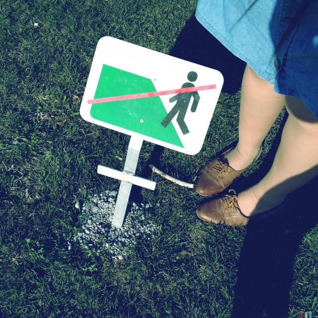 Betreten der Grünflächen verboten